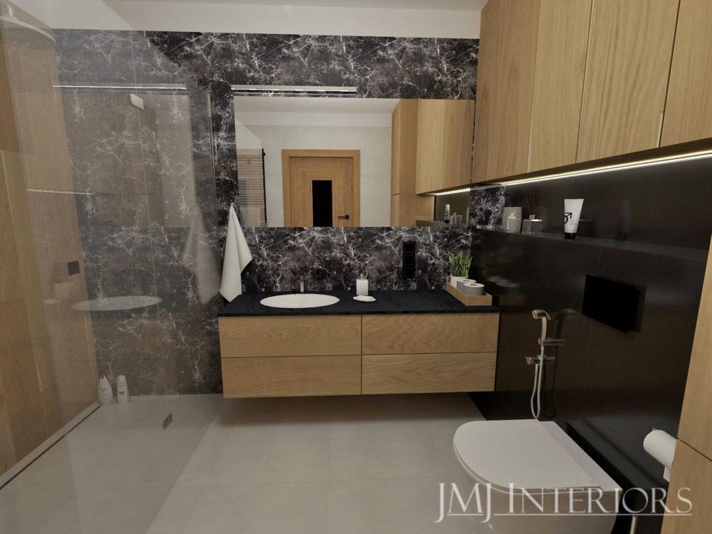 blat kompaktowy w łazience